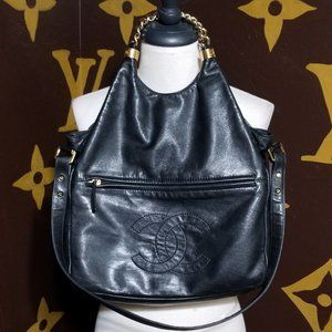 Authentic Chanel Rodeo Drive Butter Leather Hobo